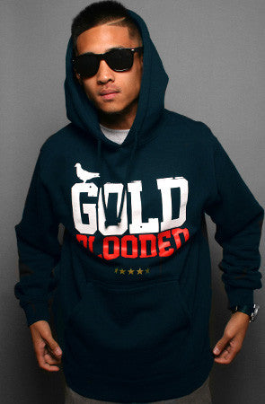GOLD BLOODED Stars and Stripes Edition Men's Navy Hoody