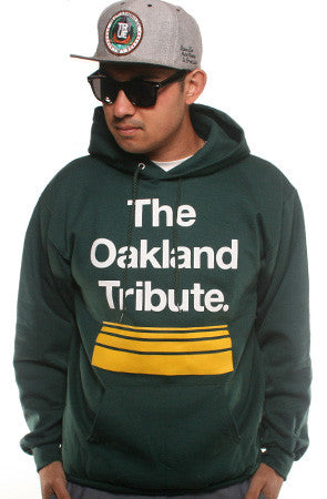 The Oakland Tribute (Men's Green Hoody)