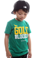 Gold Blooded (Tykes Unisex Green Tee)