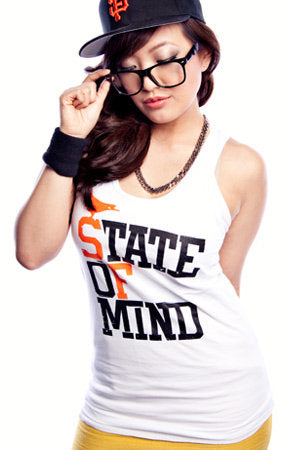 State of Mind (Women's White/Orange Tank)