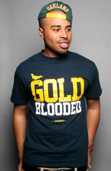 GOLD BLOODED Men's Navy/Gold Tee