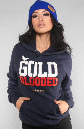 GOLD BLOODED Stars & Stripes Edition Women's Navy Hoody