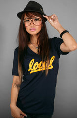 Local II (Women's Navy V-Neck)