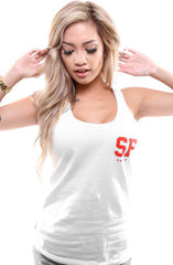 Gold Blooded Legends :: 8 (Women's White Tank Top)