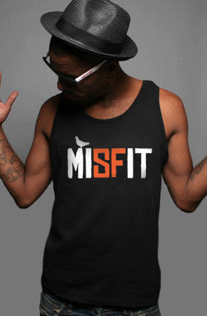 Misfit (Men's Black/Orange Tank)