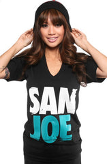 San Joe (Women's Black V-Neck)