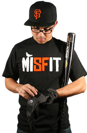 Misfit (Men's Black/Orange Tee)