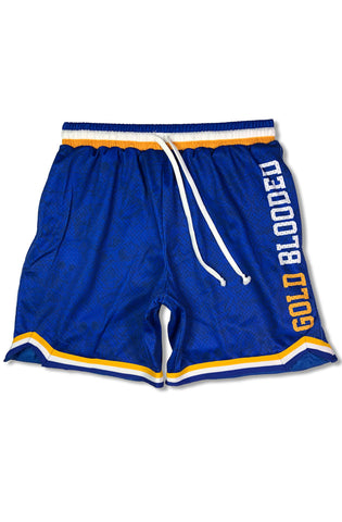 SAVS x Adapt :: Gold Blooded Chiefs (Men's Royal Mesh Game Shorts)