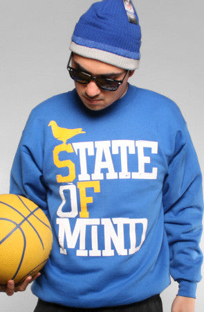 State of Mind (Men's Royal/Gold Crewneck Sweatshirt)