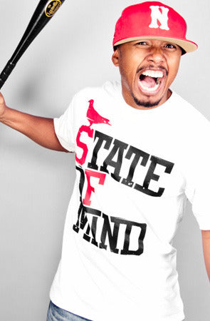 State of Mind (Men's White/Red Tee)