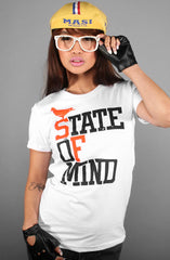 State of Mind (Women's White/Orange Tee)