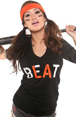 Beat LA (Women's Black/Orange V-Neck)