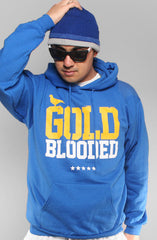 GOLD BLOODED Men's Royal/Gold Hoody