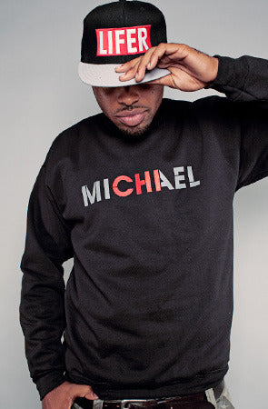 CHI (Men's Black Crewneck Sweatshirt)