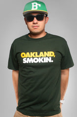 Oakland Smokin (Men's Green/Yellow Tee)
