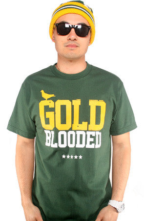 GOLD BLOODED Men's Forest/Gold Tee