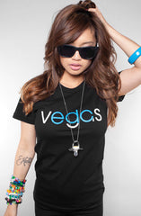 Vegas (Women's Black/Blue Tee)