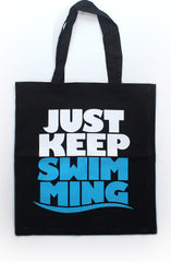 Keep Swimming (Black Tote)
