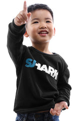 Breezy Excursion x Adapt :: Shark (Tykes Unisex Black Crewneck)