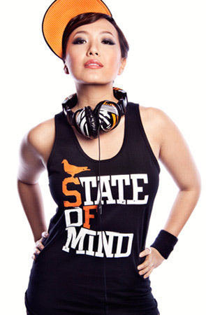 State of Mind (Women's Black/Orange Tank)