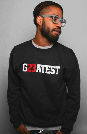 Greatest (Men's Black Crewneck Sweatshirt)