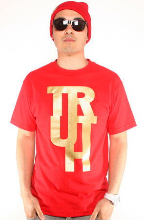 True X Adapt :: Truth (Men's Red/Gold Tee)