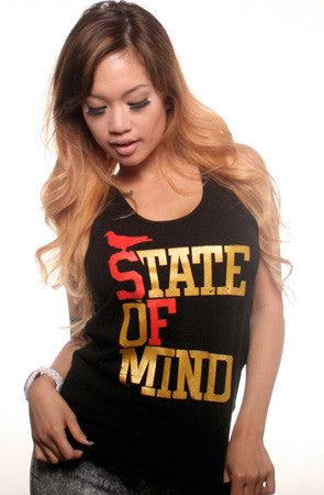 State of Mind (Women's Black/Red/Gold Tank)