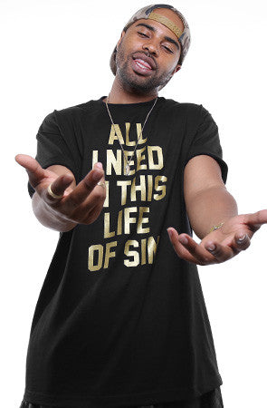 Breezy Excursion X Adapt :: All I Need GOLD Edition (Clyde) (Men's Black Tee)