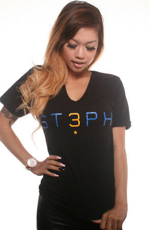 3 (Women's Black V-Neck)