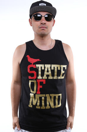 State of Mind (Men's Black/Gold Tank)