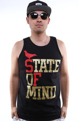 State of Mind (Men's Black/Red/Gold Tank)