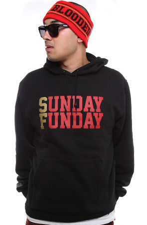 Sunday Funday (Men's Black/Gold Hoody)