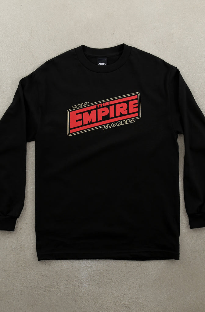 Empire Strike (Men's Black Long Sleeve Tee)