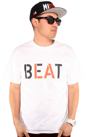 Beat LA (Men's White/Orange Tee)