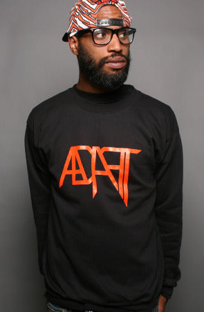 Low Go (Men's Black/Orange Crewneck)