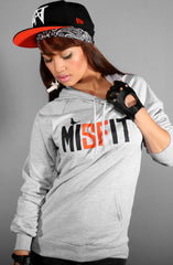 Misfit (Women's Heather/Orange Hoody)