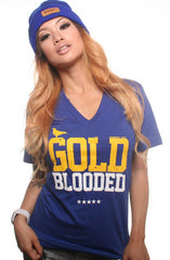 Gold Blooded (Women's Royal V-Neck)
