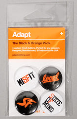 Orange and Black (Button 4-Pack)