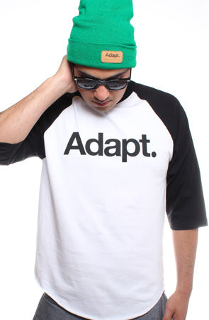 CTA (Men's White/Black Raglan Tee)