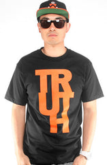 True X Adapt :: Truth (Men's Black/Orange Tee)