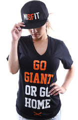 Go Giant (Women's Black V-Neck)