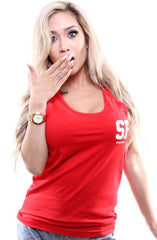 Gold Blooded Legends :: 16 (Women's Red Tank Top)