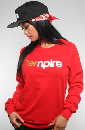 Empire (Women's Red/Gold Crewneck Sweatshirt)