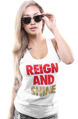 Reign and Shine (Women's White Tank Top)