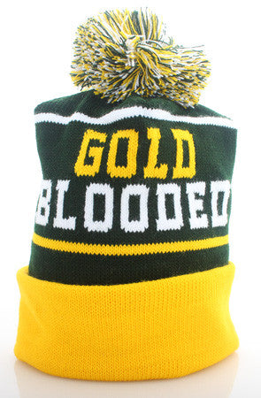 Gold Blooded (Green Beanie)