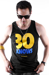 30 Knows (Men's Black Tank)
