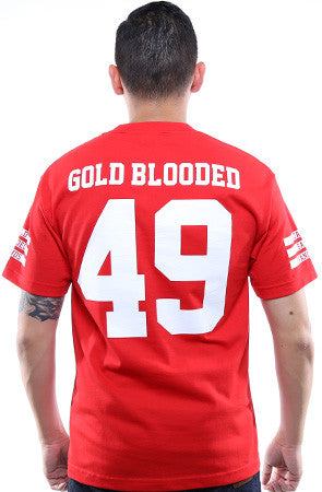 Gold Blooded Legends :: 49 (Men's Red Tee)