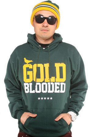GOLD BLOODED Men's Forest/Gold Hoody