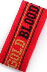 Gold Blooded (Red Thermal Headband)