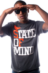 State of Mind (Men's Charcoal/Orange Tee)